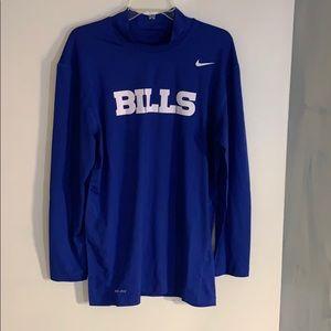 Men's buffalo bills fitted long sleeve shirt